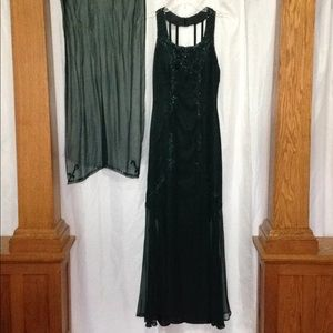 Green Silk Formal Gown
